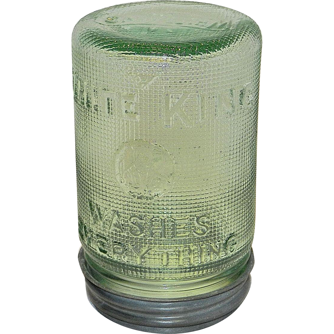 Vintage 1930 S White King Laundry Wash Soap Detergent