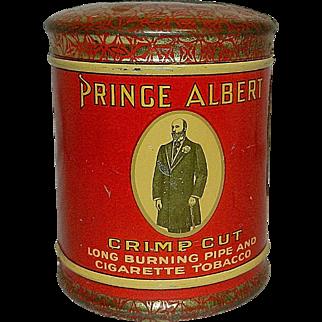 Vintage Round Prince Albert Crimp Cut Pipe Cigarette Dome Lid Tobacco Tin