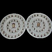 Vintage Sabin President Collector Plates