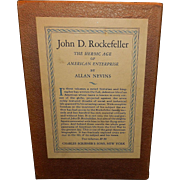 Vintage 2 Volumes JOHN D. ROCKEFELLER. The Heroic Age of American Enterprise. (Hardcover 1st edition 1940)Signed by Allan Nevins (Author)
