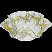 Vintage Glass Serving Bowl