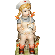 Vintage Napcoware Child Nurse Nancy Figurine from Our Children Series #667