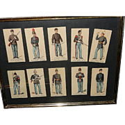 Antique Kinney Tobacco of New York Military Cards – From Sweet Caporal Cigarettes of the 1880's
