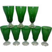 Vintage Anchor Hocking Boopie or Burple Forest Green Ice Tea Glasses