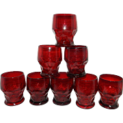 Vintage Viking Ruby Red Georgian Tumblers