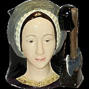 Vintage Royal Doulton Anne Boleyn Large Toby Jug or Mug #D6644