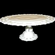 Vintage Westmoreland Doric Milk Glass Cake Plate