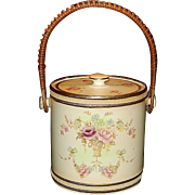 Antique Crown Devon Fielding Stoke on Trent England Windsor Pattern Biscuit Jar