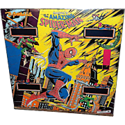 Amazing Spider-Man Pinball Machine Backglass -Gottlieb, D. & Co., 1980