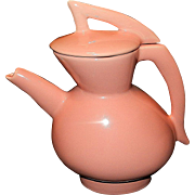 Vintage Pink Pottery Footed Tea Pitcher
