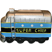 Vintage San Francisco Music Box Silver Chief Train