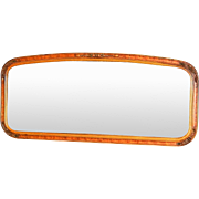 Vintage Art Deco Era Elongated Wood Mirror