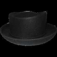 Vintage Michael Howard Black Wool Miss Bierner Hat
