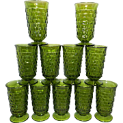 Vintage Avocado Green Whitehall Tea Glass by Indiana Glass