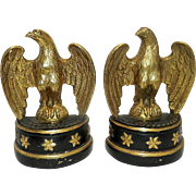 Vintage Metal Clad Borghese Eagle Bookends