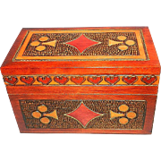 Vintage Handcrafted Polish Card Box by Villagehouse
