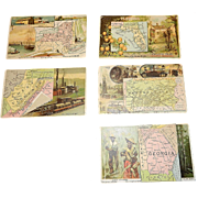 Antique Arbuckle Coffee State Map Series Trading Cards