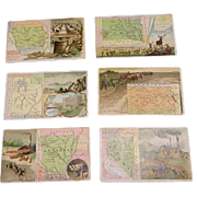 Antique Arbuckle Coffee State Map 1889 Series Trading Cards