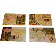 Antique Arbuckle Coffee State Map 1899 Series Trading Cards