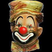 Vintage Lefton Clown Head Vase