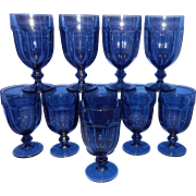 Vintage Libbey Blue Gibraltar Duratuff Ice Tea Glasses