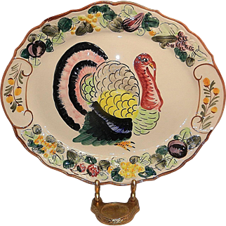 Vintage Large Turkey Platter made in Italy