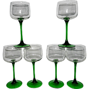 Vintage Cristal D'Arques-Durand Emerald Collection made in France