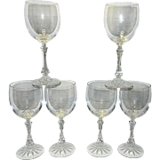 Vintage Galway Leaded Crystal Water or Tea Goblets