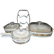 Vintage 8 piece Corning Ware Spice of Life Set