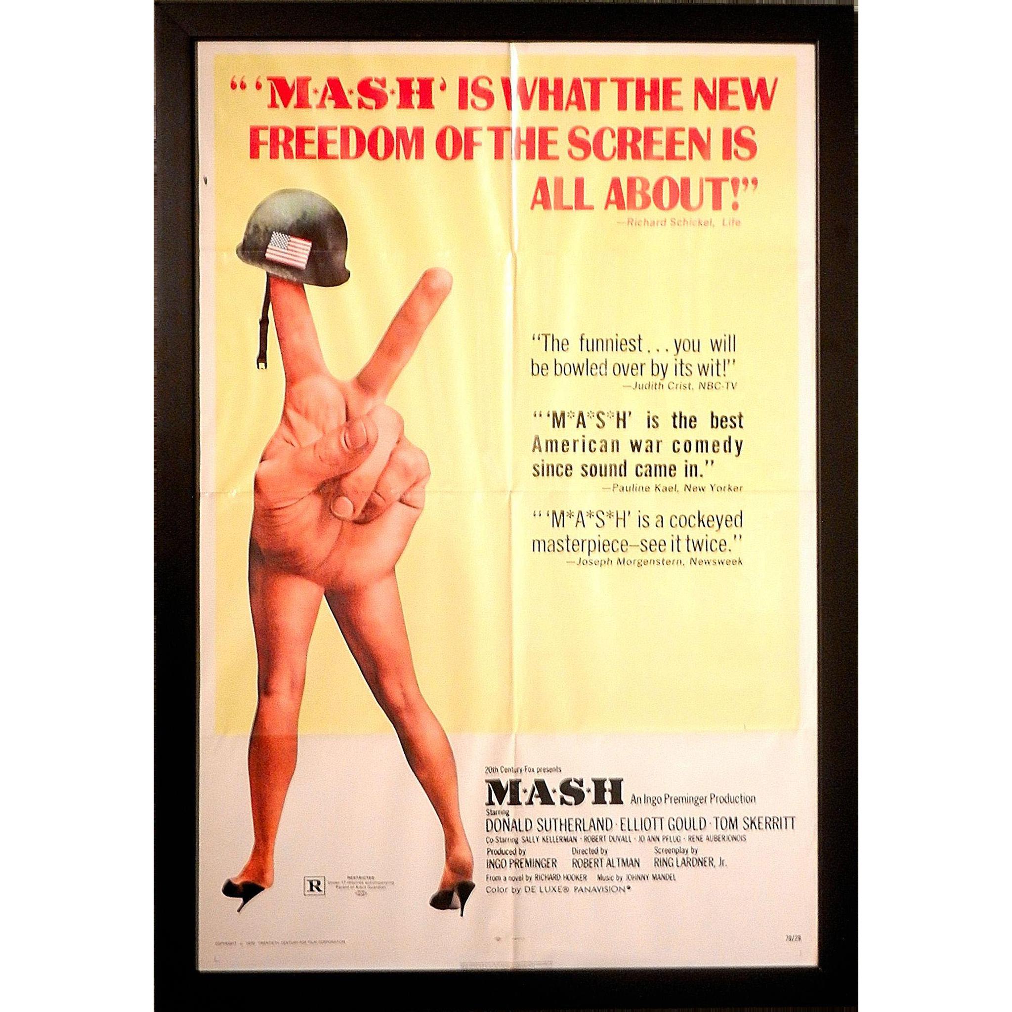 Vintage 1970 Original Mash Movie Poster