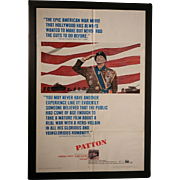 Vintage 1970 Patton Original Movie Poster