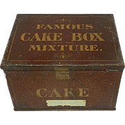 Antique Leavitt & Peirce Famous Cake Box Mixture Tobacco Tin