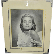 Vintage Reverse Painted Art Deco Picture Frame with Brenda Marshall Photo