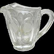 Vintage Fostoria 32 oz Coin Glass Pitcher