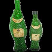 """Antinori 1965 Bianco Della Costa Toscana """"Fish"""" Liquor White Wine Bottle made in ITALY"""