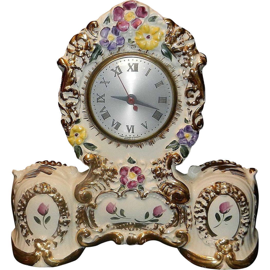 Vintage Oxford Metal Spinning Company Porcelain Clock with Session Movement.
