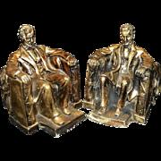 Vintage Alexander Backer Style Plaster Abraham Lincoln Bookends