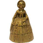 Vintage Brass Lady Bell Made in Italy
