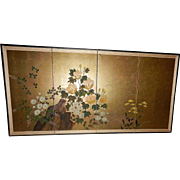 "Vintage Japanese Byobu Wall Screen 72"" x 36"""