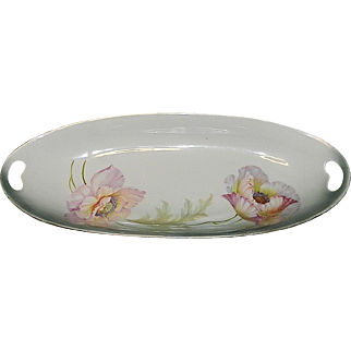 Antique PV Kloster Vessra Germany Hand Painted Floral Oval Celery or Relish Dish