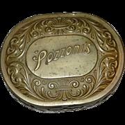 Vintage Brass Pozzoni's Powder Tin circa 1912