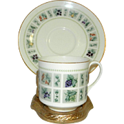 Vintage Tapestry Pattern Cup and Saucer by ROYAL DOULTON