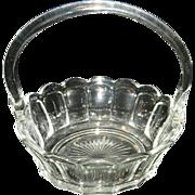 Vintage EAPG Thumbprint Basket