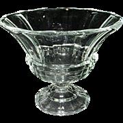 Vintage Paneled EAPG Crystal Footed Compote