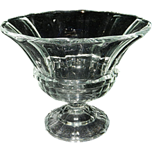 Vintage Paneled EAPG Crystal Footed Compote
