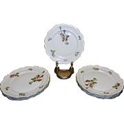 "Vintage Rosenthal Moss Rose China 6 ¼ "" Bread Plates Pompadour Pattern"