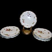 """Vintage Rosenthal Moss Rose 7 3/4"""" Salad Plates Pompadour Pattern"""