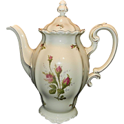 Rosenthal Moss Rose (POMPADOUR pattern) 9 in, 8 CUP Coffee Pot  & Lid