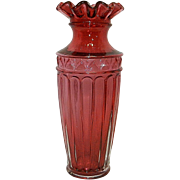 Vintage Fenton Grecian Roman Style Cranberry Bud Vase