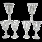 Vintage Fostoria Sliver Flutes Water Goblets
